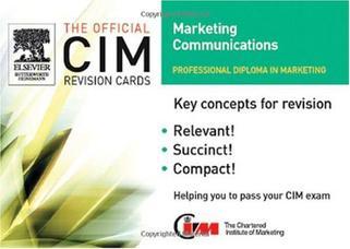 CIM Revision Cards 2005-06: Marketing Communications