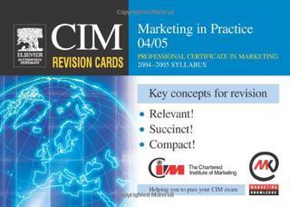 کارتهای مرور CIM: بازاریابی در عمل ۲۰۰۴-۲۰۰۵