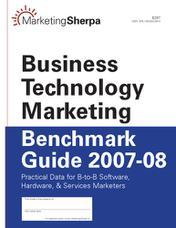 بازاریابی فناوری کسبوکار: راهنمای مقایسه عملکرد ۲۰۰۷-۲۰۰۸