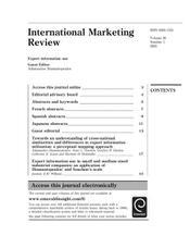 مجله بین المللی  بازاریابی  ، شماره ی20 ، شماره 1 ، 2003: استفاده از اطلاعات صادرات