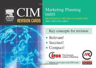 CIM Revision Cards: Marketing Planning 2004-05