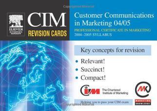 کارتهای مرور CIM: ارتباط با مشتری در بازاریابی ۲۰۰۴-۲۰۰۵