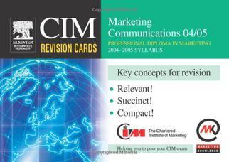کارتهای مرور CIM: ارتباطات بازاریابی ۲۰۰۴-۲۰۰۵