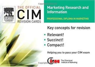 کارتهای مرور CIM: اطلاعات و تحقیقات بازاریابی ۲۰۰۵-۲۰۰۶
