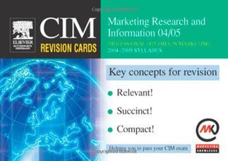 کارتهای مرور CIM: اطلاعات و تحقیقات بازاریابی ۲۰۰۴-۲۰۰۵