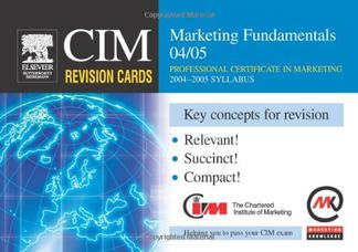 کارتهای مرور CIM: مبانی بازاریابی ۲۰۰۴-۲۰۰۵