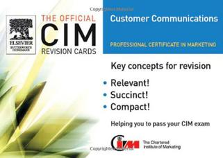 CIM Revision Cards: Customer Communications in Marketing 2005-06