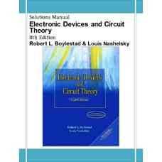 حل المسائل نظریه قطعات و مدارهای الکترونیک (بویل اشتاد و نشلسکی) (ویرایش هشتم 2001)