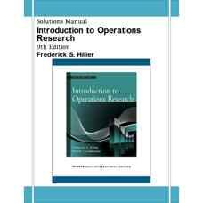 حل المسائل مقدمه ای بر تحقیق در عملیات (هیلیر) (ویرایش نهم 2009)