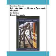 حل المسائل مقدمه ای بر رشد اقتصادی مدرن (اکموگلو) (ویرایش اول 2009)