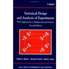 طراحی و تحلیل آماری آزمایش ها (میسون، گانست و هس) (ویرایش دوم 2003)
