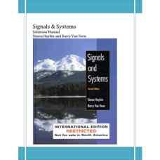 حل المسائل سیگنال ها و سیستم ها (هیکین و ون وین) (ویرایش دوم 2003)