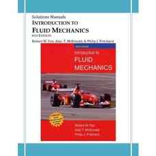 حل المسائل مقدمه ای بر مکانیک سیالات (فاکس، مک دونالد و پریچارد) (ویرایش ششم 2004)