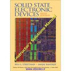 حل المسائل قطعات الکترونیکی نیمه هادی (استریتمن و بانرجی) (ویرایش ششم 2005)