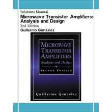 حل المسائل تقویت کننده های مایکروویو ترانزیستوری: تحلیل و طراحی (گونزالز) (ویرایش دوم 1996)