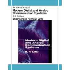 حل المسائل سیستم های مخابرات آنالوگ و دیجیتال مدرن (لاتی) (ویرایش سوم 1998)