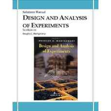 حل المسائل طراحی و تحلیل آزمایش ها (مونتگومری) (ویرایش پنجم 2001)