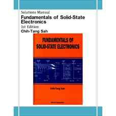 حل المسائل مبانی الکترونیک حالت جامد (سا) (ویرایش اول 1991)