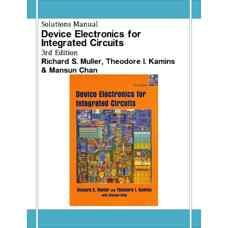 حل المسائل قطعات الکترونیکی برای مدارهای مجتمع (مولر، کامینز و چان) (ویرایش سوم 2002)