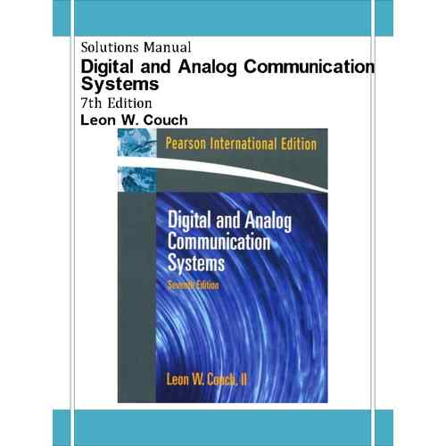 digital and analog communication systems solution manual couch pdf