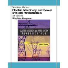 حل المسائل مبانی ماشین های الکتریکی و سیستم های قدرت (چاپمن) (ویرایش اول 2001)