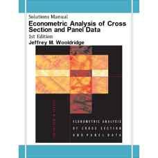 حل المسائل آنالیز اقتصادسنجی داده های مقطعی و تابلوئی (وولدریج) (ویرایش اول 2001)