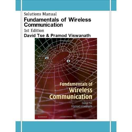 fundamentals of wireless communication david tse solution manual pdf
