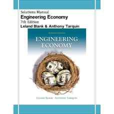 حل المسائل اقتصاد مهندسی (بلنک و تارکوین) (ویرایش هفتم 2011)