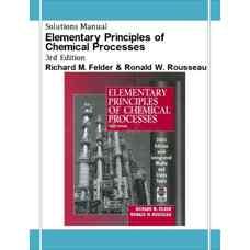 حل المسائل اصول مقدماتی فرآیندهای شیمیائی (فلدر و روسو) (ویرایش سوم 2004)