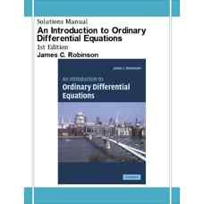 حل المسائل مقدمه ای بر معادلات دیفرانسیل معمولی (رابینسون) (ویرایش اول 2004)
