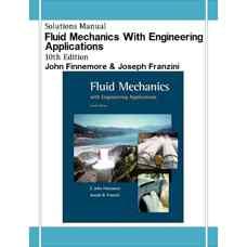 حل المسائل مکانیک سیالات همراه با کاربردهای مهندسی (فینمور و فرانزینی) (ویرایش دهم 2001)