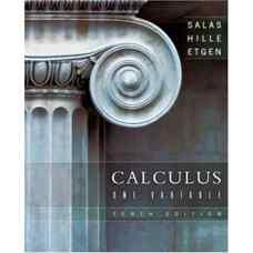 حساب دیفرانسیل و انتگرال یک متغیره (سالاس، اتگن و هیل) (ویرایش دهم 2007)