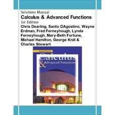 حل المسائل حساب دیفرانسیل و انتگرال به همراه توابع پیشرفته (درلینگ، آگوستینو، اردمن، فرنیهیو، فرنیهیو، فورچن، همیلتون، نیل و استوارت) (ویرایش اول 2002)