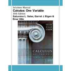 حل المسائل حساب دیفرانسیل و انتگرال: یک متغیره (سالاس، اتگن و هیل) (ویرایش دهم 2006)