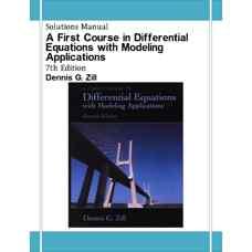 حل المسائل مقدمه ای بر معادلات دیفرانسیل همراه با کاربردهای مدلسازی (زیل) (ویرایش هفتم 2000)