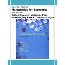 حل المسائل ریاضیات اقتصاد (هوی، لیورنویس، مک کنا، ریس و استنگوس) (ویرایش دوم 2001)
