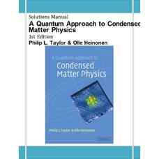 حل المسائل رویکردی کوانتومی بر فیزیک ماده چگال (تیلور و هینونن) (ویرایش اول 2002)