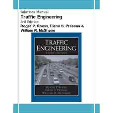 حل المسائل مهندسی ترافیک (روس، پریساس و مک شین) (ویرایش سوم 2004)