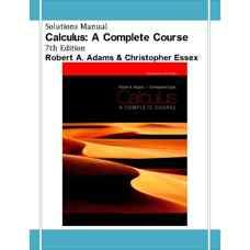 حل المسائل حساب دیفرانسیل و انتگرال: دوره کامل (آدامز و اسکس) (ویرایش هفتم 2009)