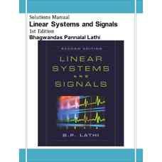 حل المسائل سیگنال ها و سیستم های خطی (لاتی) (ویرایش اول 1992)